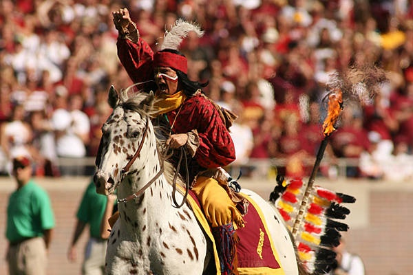 Chief Osceola. Florida State University. Would love to see a nighttime FSU game this year!