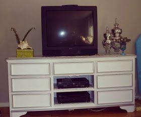 white and silver dresser - no hardware