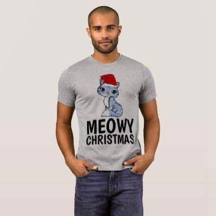 MEOWY CHRISTMAS T-shirts Funny Cat Shirts - Xmas ChristmasEve Christmas Eve Christmas merry xmas family kids gifts holidays Santa