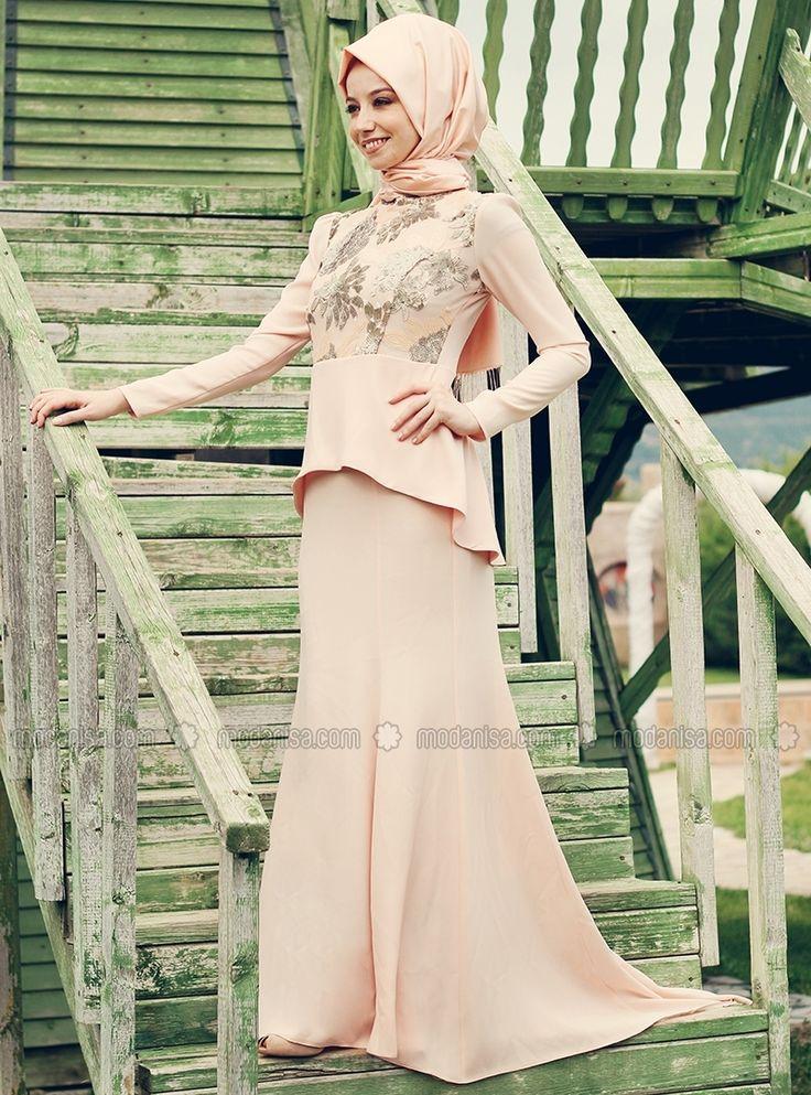 Stamp Sultan Sequin Evening Dress - Powder - Enamel Love