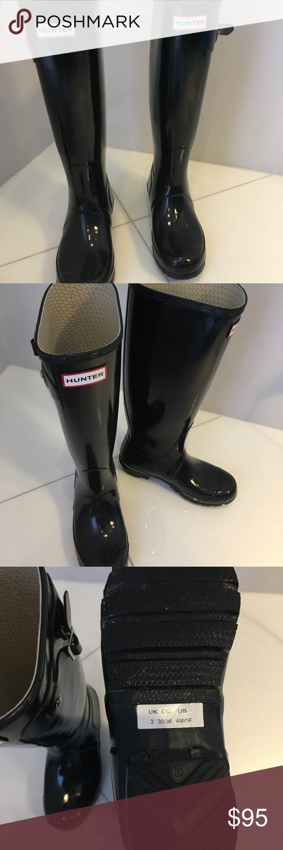 Hunter boots Tall black hunter rain boots Hunter Shoes Winter & Rain Boots