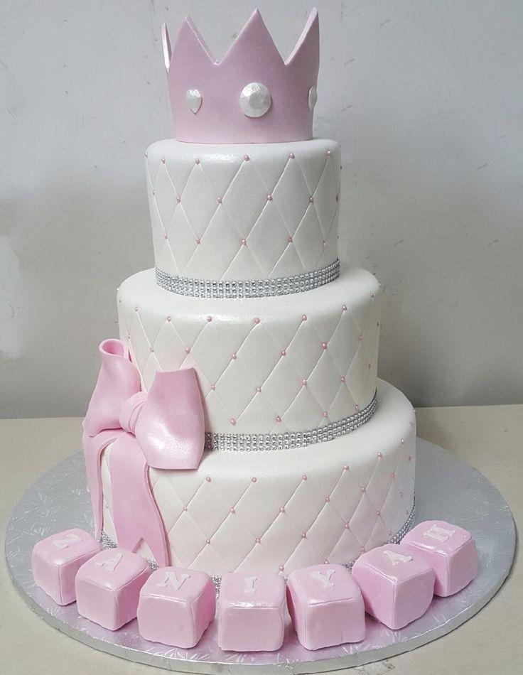 Calumet Bakery Pink And White Princess Baby Shower Cake