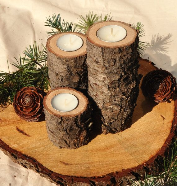 Best rustic candle holders ideas only on pinterest