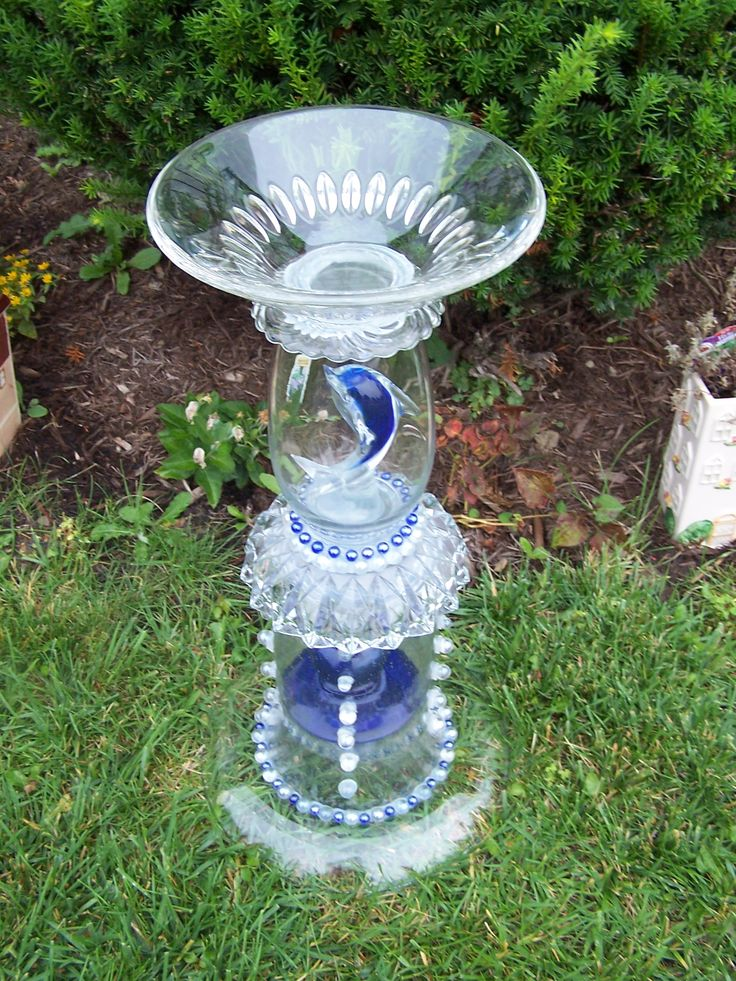 1348 Best Images About Great Ideas For Old Dishes On Pinterest Garden Totems Bird Baths And