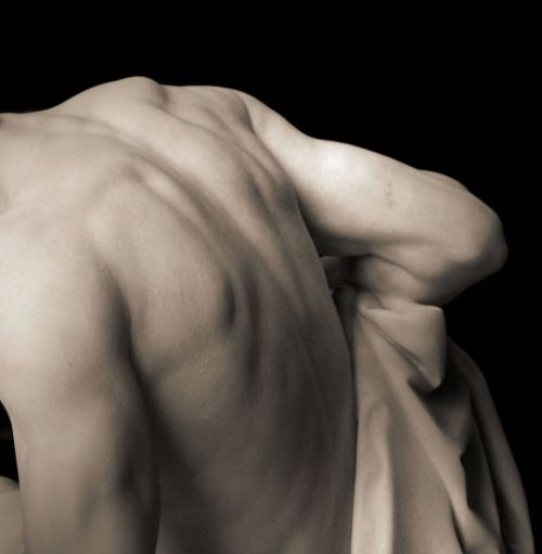 """His body was like those ancient greek statues in museums"""