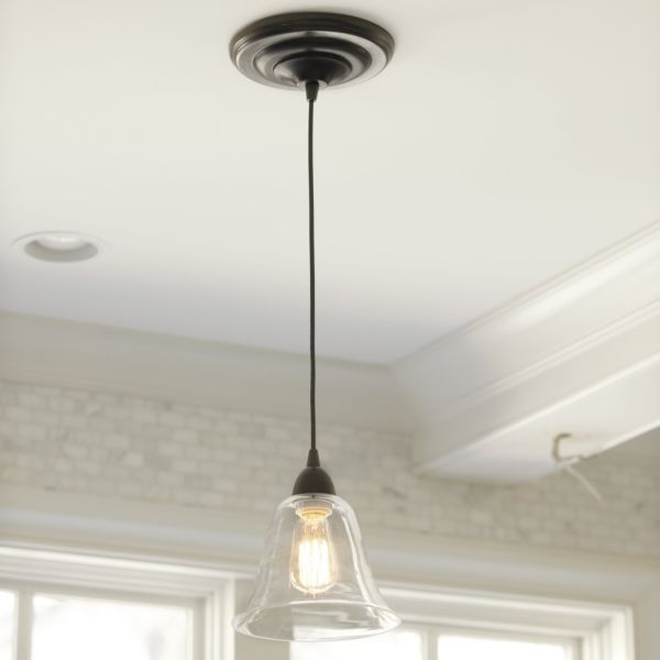 Hanging Can Lights: Pendant Shade Adapter In Clear (Recessed Can Light Model