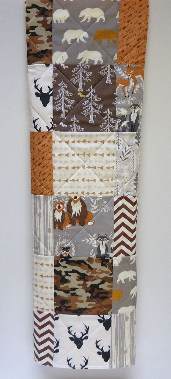 Baby Boy Quilt-Modern Baby Bedding-Rustic by NowandThenQuilts