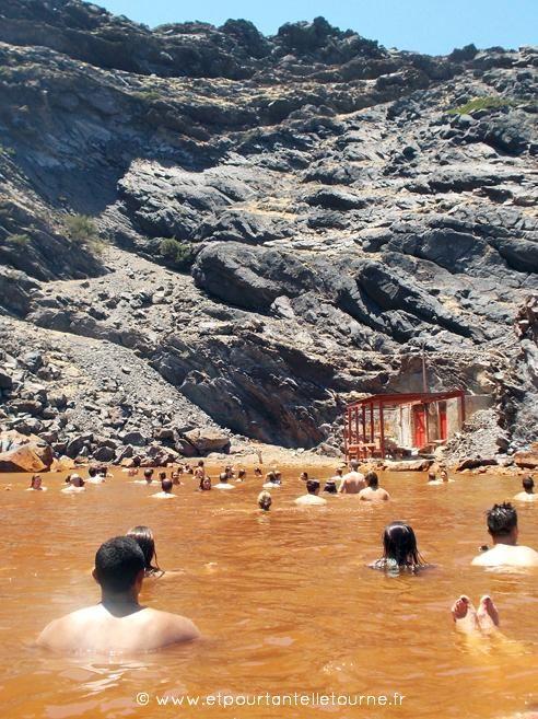 Cyclades - Santorin - source d'eau chaude Palia Kameni ©Etpourtantelletourne.fr