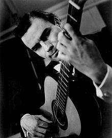 Classical guitarist and lutenist Julian Bream performed in Frostburg in 1969