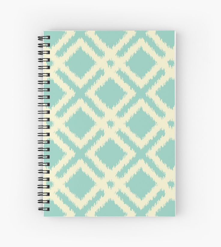 Ikat squares pattern - teal & cream by LunaPrincino #design #graphic #print #prints #redbubble #gift #idea #ideas #stationery #spiral #notebook #graphics #cool #creative #for #office #style #stylish #pattern #geometric #geometry #lines #trendy #trend #ornament #ornate #pretty #beautiful #beige #and #turquoise #teal #cream #ivory #ikat #squares #diagonal #diamonds #school #buy #shopping #abstract #carpet #motif #textile #vintage #modern #embroidery #imitation