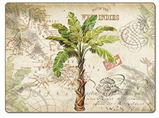 A West Indies Palm Tree 4 Hardboard,Cork-back,Tropical Placemats