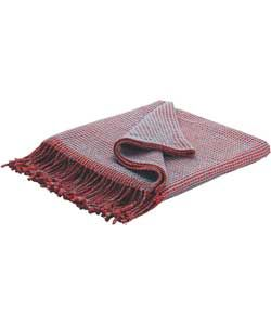 Habitat Abban Reversible Throw - Red and Blue.