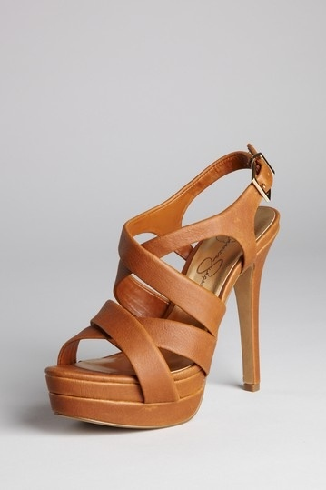 Jessica Simpson heels - I hear her brand is actually not too uncomfortable, and I love this cognac color.