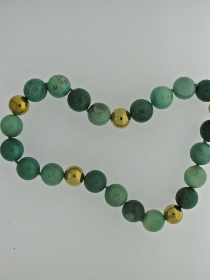 Another beautiful necklace from our Winter 2012 collection, agate and silver gold plated bead necklace.