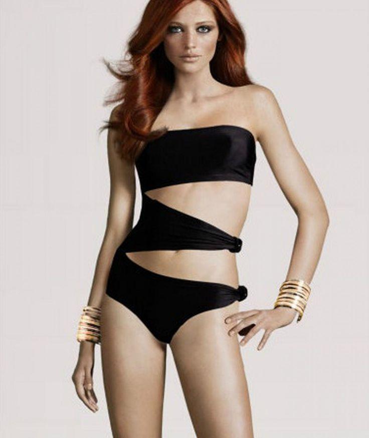 Sexy Slim Black One-piece Bathing Swimsuit
