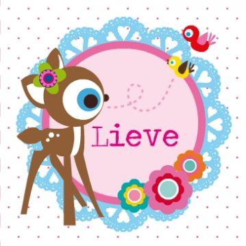 lief geboortekaartje meisje met hert. Maak zelf online een lief geboortekaartje met de illustraties van Jojojanneke
