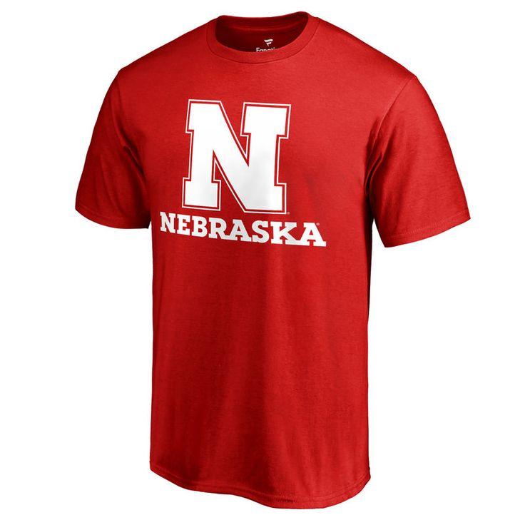 Nebraska Cornhuskers Fanatics Branded Team Lockup Big & Tall T-Shirt - Scarlet