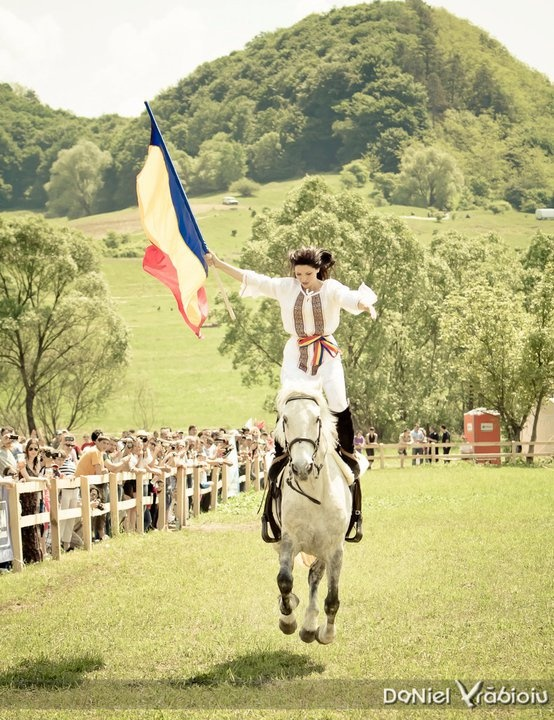 Transylvania International Horse Show.  Sighisoara Romania