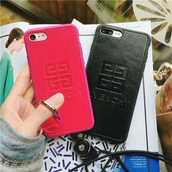 ジバンシー アイフォン7/7 PLUS ケース ペア ブラントGIVENCHY iPhone6s plus/7 保護カバー おしゃれ ブラント ストラップ付き 送料無料