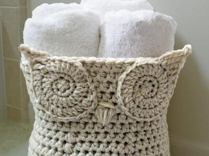 Owl Basket Kit - Knitting Kit includes Yarn & Pattern! - Shop Craftsy's premiere assortment of knitting supplies and save! Get the Owl Basket Kit before it sells out. - via @Craftsy