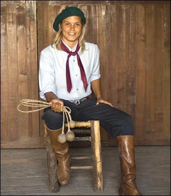 Modern interpretation of a woman gaucho