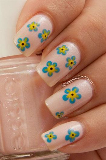 130 best flower nail designs images on pinterest fashion am showcasing simple easy flower nail art designs ideas of make little flowers petals blossoms and leaves on your nails and give a natural look prinsesfo Choice Image