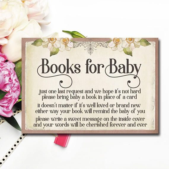 Book baby shower invitation book story baby shower