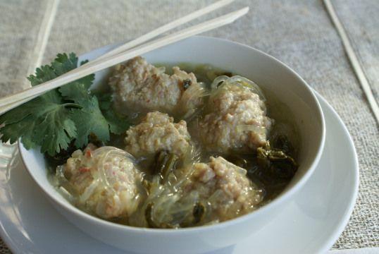 Shrimp & Pork Dumpling Soup   soups   Pinterest
