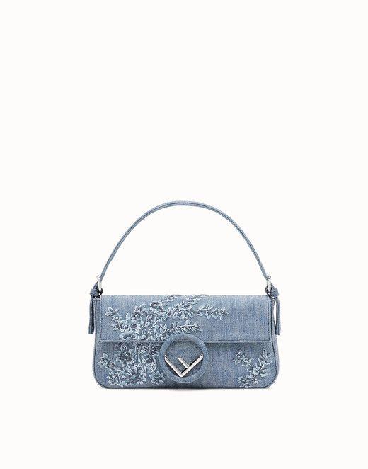 ce967a2ca182 FENDI BAGUETTE - Blue denim bag - view 1 small thumbnail