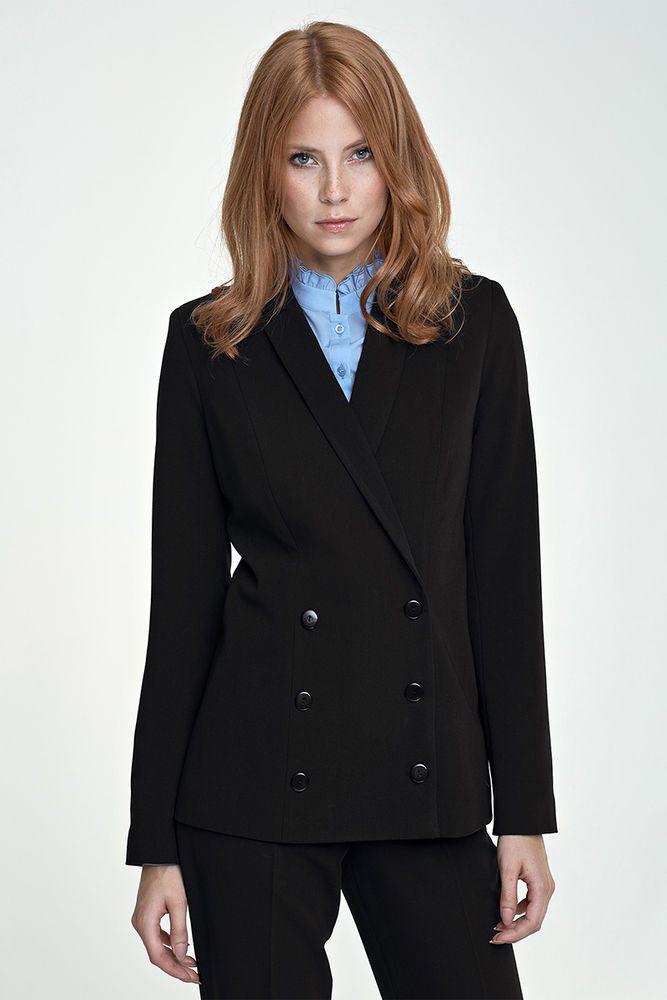 Veste chic costume tailleur femme double boutonnage noir qualité NIFE Z 20  #Vestesdecostume