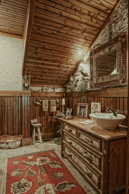 78 images about adirondack style on pinterest cabin for Adirondack bathroom ideas