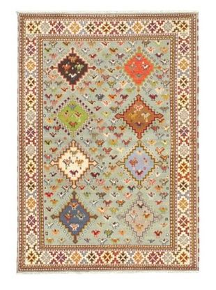 -55,300% OFF Hand-Knotted Royal Kazak Wool Rug, Light Blue, 5' 7