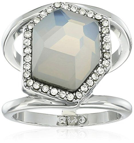 Rebecca Minkoff White Opal Large Stone Ring, Size 7