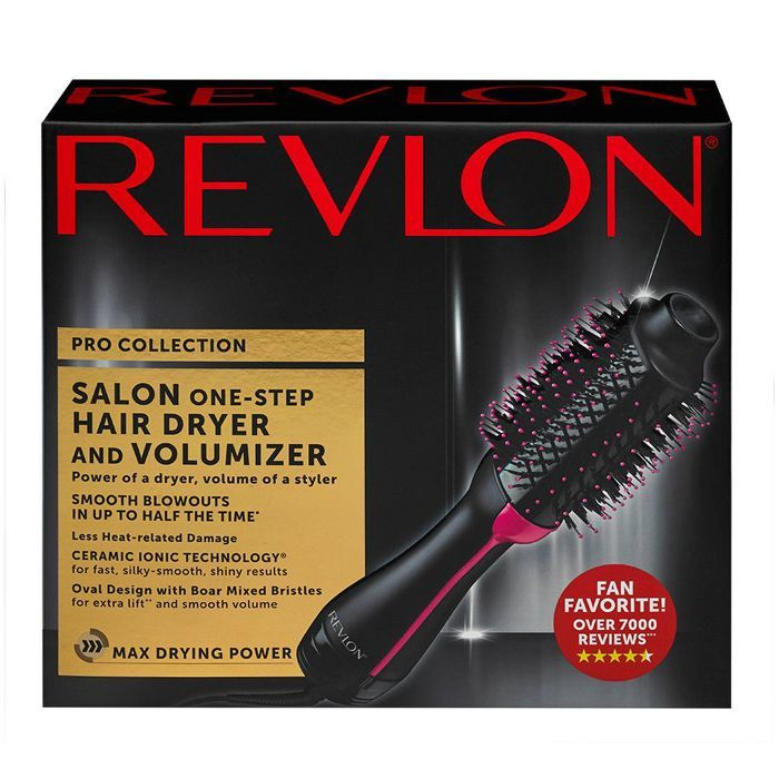 Revlon Salon One Step Hair Dryer And Volumizer Black Revlon Hair Dryer Brush Hair Dryer Hair Dryer Brush
