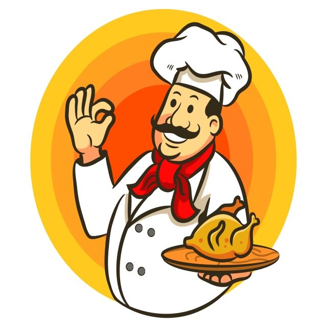 Chef Cooking Chicken And Delicious Vector And Png Logo Design Free Templates Logo Design Free Art Deco Design Graphics