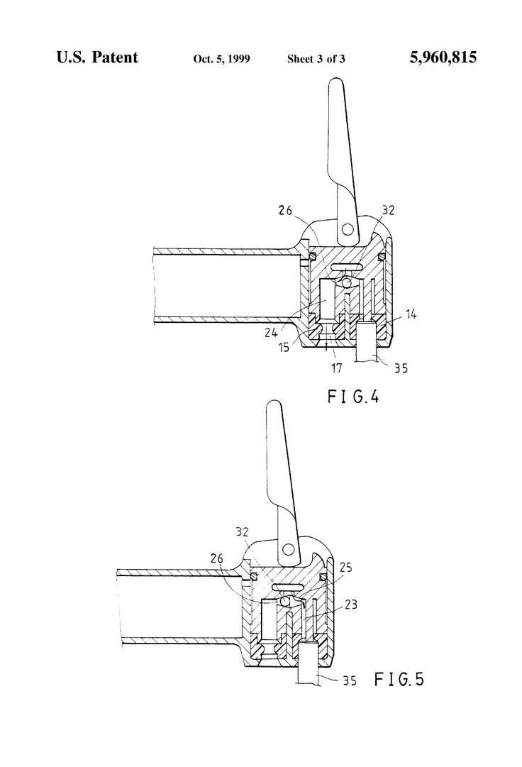 Patente US5960815 - Air nozzle of inflating device - Google Patentes