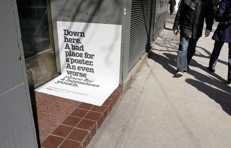 """Nice campaign ofCanadian non-profit organization """"Raising the Roof"""""""