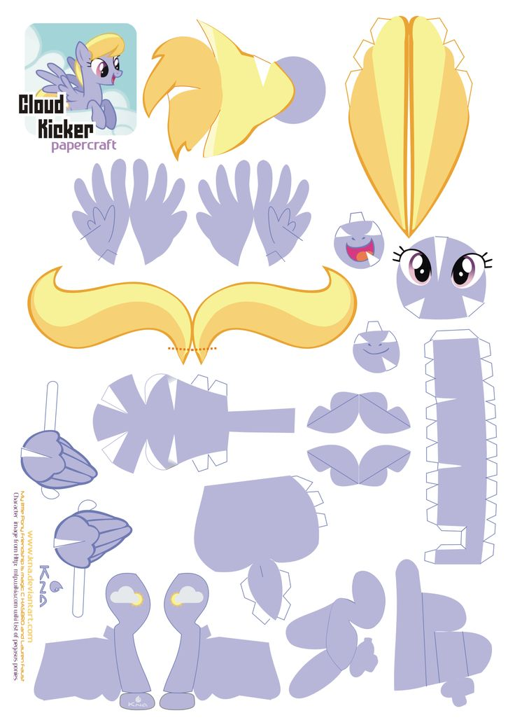mlp papercrafts | Cloud Kicker - My Little Pony - Papercraft