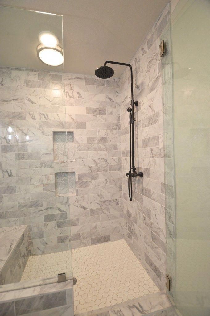 Marble White Bathroom Shower Fixer Upper House Flip Before And After Renovation Bathroomsremodel Bathrooms Remodel Bathroom Shower Tile Bathroom Decor