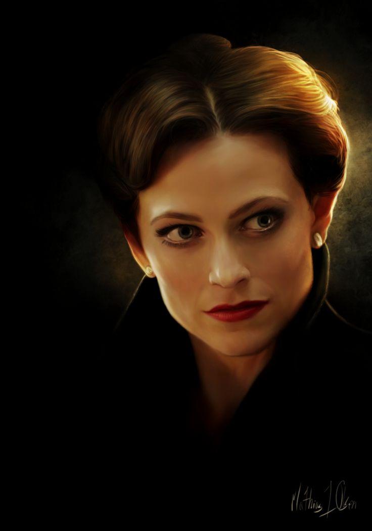 """Stunning portrait of Lara Pulver as """"Irene Adler"""" from the BBC series """"Sherlock""""  —  Irene Adler - painting by *Lasse17 on deviantART"""