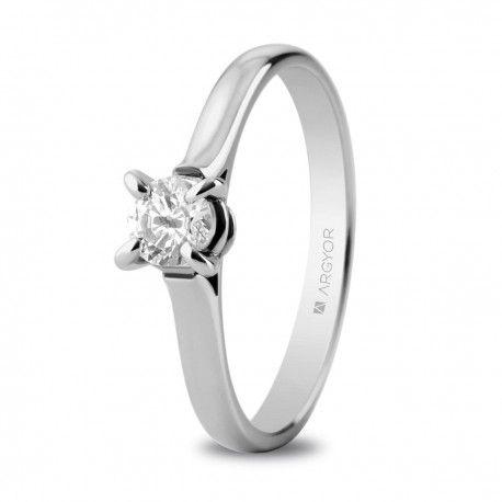 f3831abfa4bf Anillo de compromiso oro blanco con 1 diamante 0.34ct (74B0044 ...
