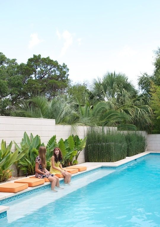 17 best images about swimming pools on pinterest for Landscaping ideas for pool areas