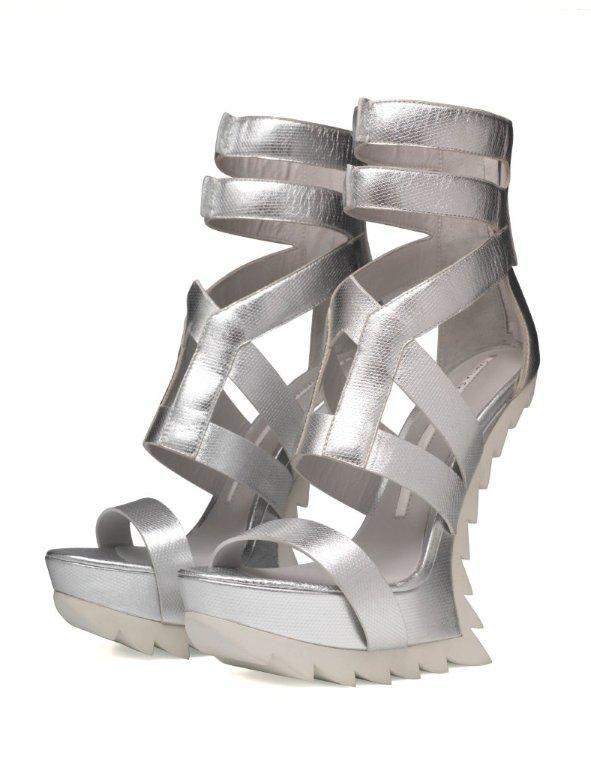 Designer Camilla Skovgaard shoe on display at the Westfield exhibition: My Favourite Shoe.