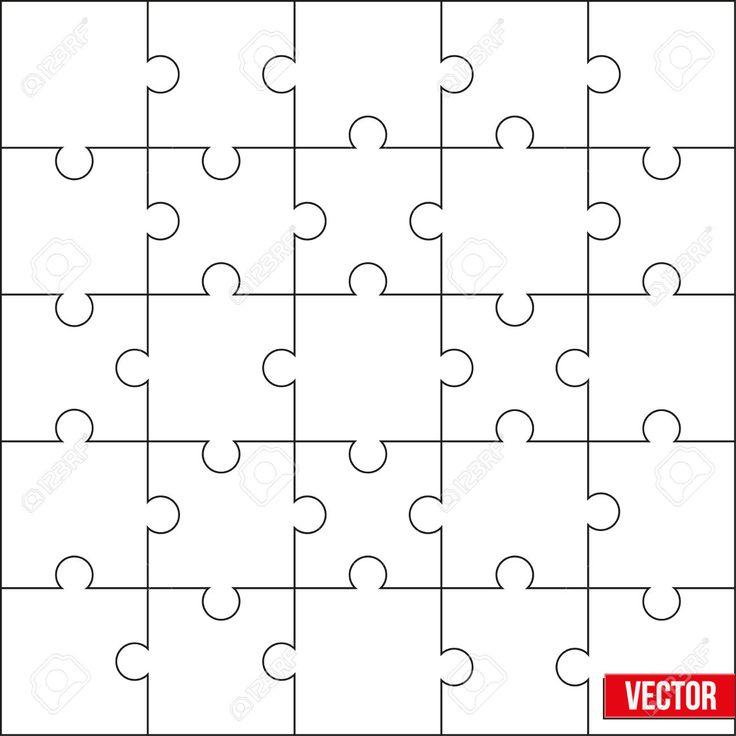 Образец головоломки квадрат головоломки пустых принципов шаблонов или резания. Векторные иллюстрации, редактирования и изолированы. Клипарты, векторы, и Набор Иллюстраций Без Оплаты Отчислений. Image 27887504.