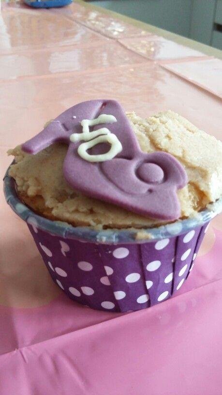 Appel kaneel cupcake voor de veertigste verjaardag van mijn nicht