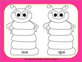 CVC and CVCe word family mats- FREE
