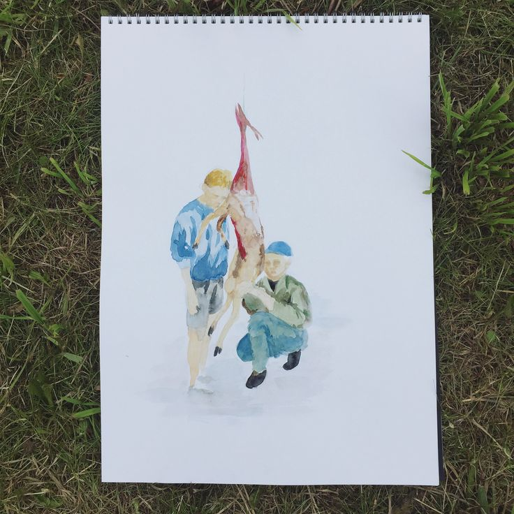 Process of making a gift ���� - #drawing #wip #illustration #draw #hunt #hunting #hunter #sketch #sketches #sketching #sketchbook #irisbakker #gift #art #deer #watercolor #pencil #pastel #watercolordrawing #pasteldrawing http://misstagram.com/ipost/1550933006654686296/?code=BWGBVo0FMRY