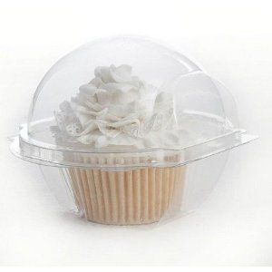 WAWO 50 PCS Clear Cupcake Containers Plastic Cupcake Boxes, Just received mine from Amazon today... ready for the bake sale!