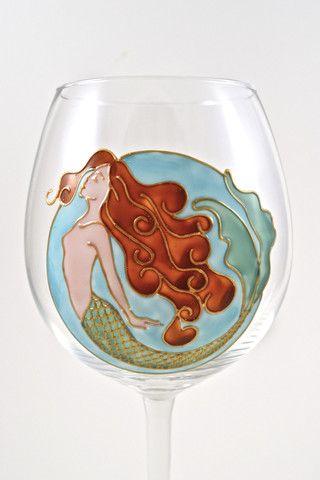 Toasted Glass - Aquarius / Pisces Mermaid Goblet