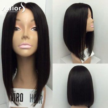SHARE & Get it FREE | Adiors Medium Straight Bob Center Part Synthetic WigFor Fashion Lovers only:80,000+ Items·FREE SHIPPING Join Dresslily: Get YOUR $50 NOW!